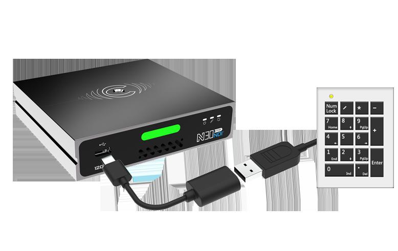 可通过USB接口实现NDI切换