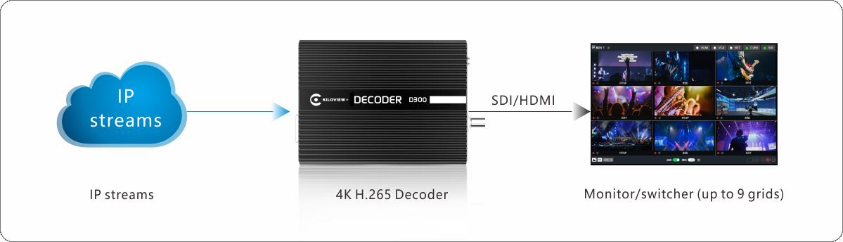 kiloview-D300-Application-chart
