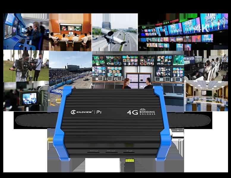 kiloview-P-Series-4G-LTE-Bonding-Video-Encoder-recording