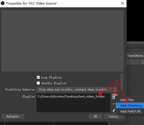 how-to-make-a-24-7-youtube-live-stream-add-vlc-directory-in-obs