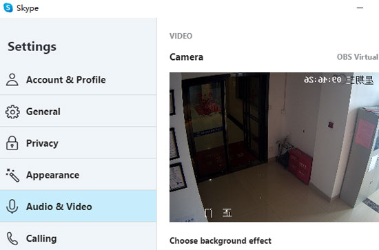 ip-camera-live-streaming-sharing-rtsp-with-obs-to-skype